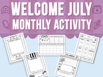 Welcome July - Monthly Activity