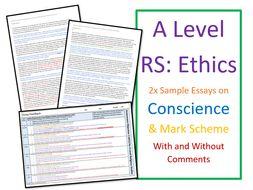 A Level Religious Studies: Model Essays for Ethics - Conscience