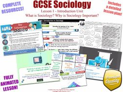 Introduction to Sociology - Introduction Unit L1/12 - GCSE Sociology