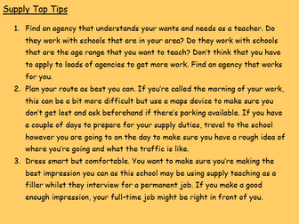 Supply Teacher Emergency Toolkit