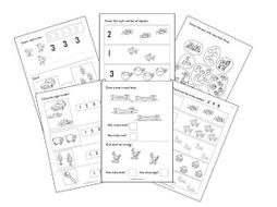 Numbers 0 to 5 Worksheets