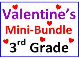 Valentine's Day 3rd Grade Mini-Bundle