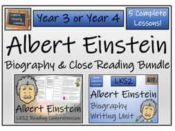 LKS2 Science - Albert Einstein Reading Comprehension & Biography Bundle