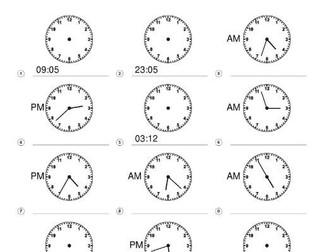 Year 5 Autumn Numeracy Mathematics Planning  & Telling Time Worksheets