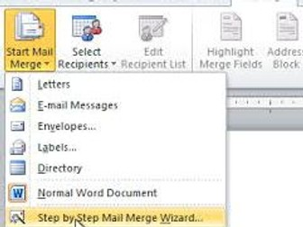 Microsoft Word Mail Merge step by step guide