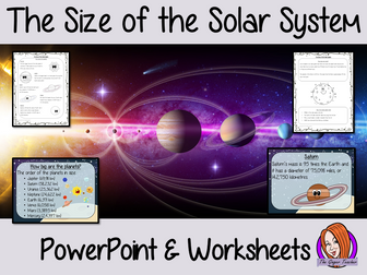 The Size of the Solar System PowerPoint and Worksheets