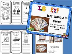 Back to School IB PYP Key Concepts Fan for Little Kids