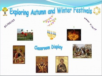 Exploring Festivals - Classroom Display