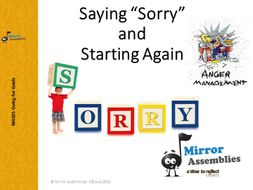 Saying Sorry & Starting Again