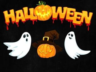 Halloween Functional Skills English Writing: Entry Level 2