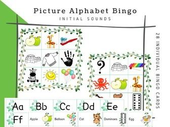 Alphabet Sounds Picture BINGO