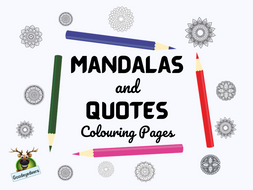 Mandalas and Quotes Colouring Pages, Posters