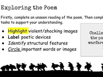 WJEC Anthology Poetry: Dulce et Decorum Est