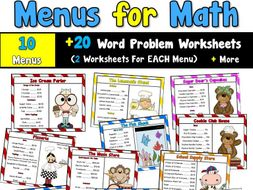 Menus for Math
