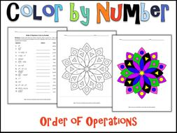 Order Of Operations Color By Number By Charlotte James615 Teaching