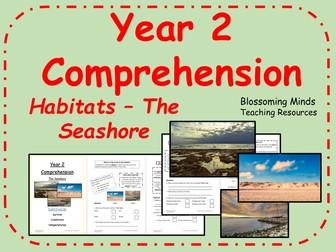 Year 2 Reading Comprehension - The Seashore (Habitats) - Science