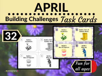 April Themed  Building Challenges