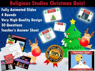 Religious Studies Christmas Quiz (RE / RS)  (Xmas, End of Term, Fun, Form / Tutor Time)