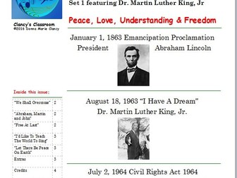 Music Inspired by Historical Events Set 1 featuring Martin Luther King, Jr.