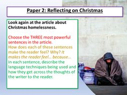 Christmas AQA English Language Paper 2 Lesson