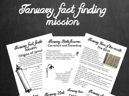 January fact finding mission - Facts relating to January - Editable version -PPT