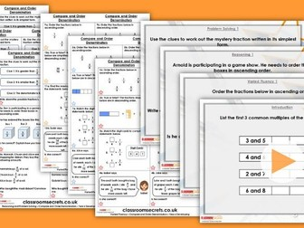 Year 6 Compare and Order by Denominator Autumn Block 3 Step 3 Maths Lesson Pack