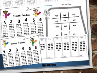 FREE Times Tables Pack Super Hero Poster Game Times Table Drill Circle Times Table  With Answers V2