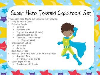 Classroom Display Set - Super Hero Theme