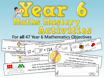 Year 6 Maths Mastery Activities