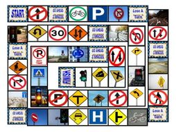 Road Signs and Directions  Board Game