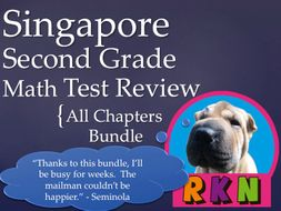 Singapore 2nd Grade Math Test Review Bundle