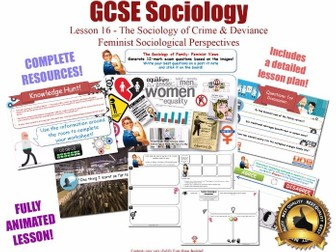 Feminist Perspectives - Crime & Deviance L16/20 [ AQA GCSE Sociology - 8192] Feminism Gender