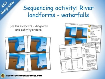 River landforms - waterfall sequencing