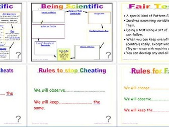 Being Scientific: Working Scientifically in Enquiry and Investigation - Controlling Variables