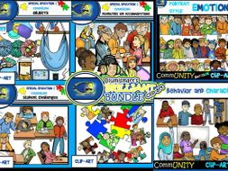 Special Education and Counseling Clip-Art Bundle