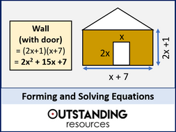Forming And Solving Equations Worksheet By Outstanding Resources