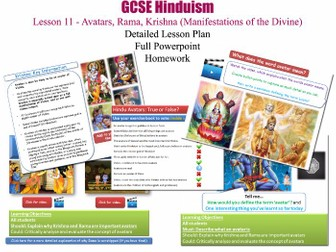 GCSE Hinduism - Lesson 11/20 [Avatars, Avatara, Krishna, Rama, Ramayana, Shaivism and Vaishnavism]