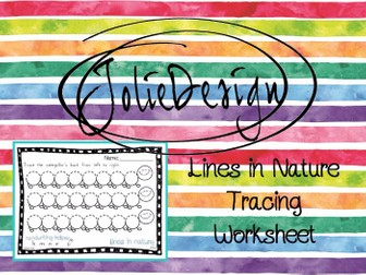 Tracing Activity - Lines in Nature Caterpillar FREE Pre-Writing Worksheet