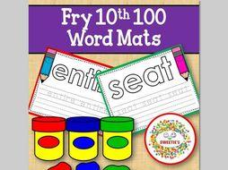 Sight Word Mats:  Fry 10th 100 Word Mats – Color
