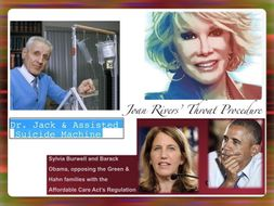 Medical Law Cases ~ Hobby Lobby Dr. Kevorkian Joan Rivers ~ + Tests = 62 Slides