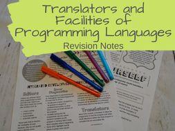 Translators and facilities of programming languages revision