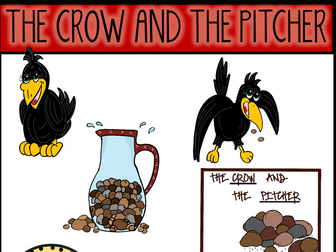 The Crow and The Pitcher (Aesop's Fable) Clip Art