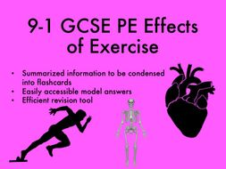 9-1 GCSE PE Effects of Exercise