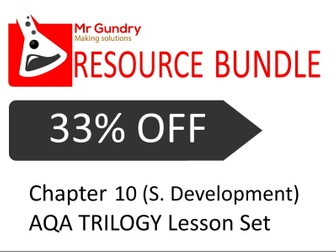 AQA Chapter 10 (Sustainable Development) TRILOGY Lesson Set