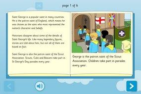 St George Interactive Information Book - Reading Level A - St George's Day KS1