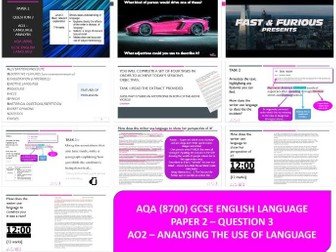 AQA 8700/2 English Language - Analysis Boy Racer Article