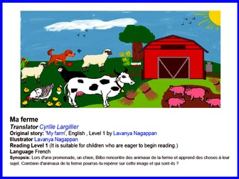 Super Simple French Guided Reading Scheme For Beginners - Ma ferme