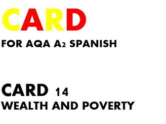 SPEAKING CARD 14 for AQA A2 SPANISH