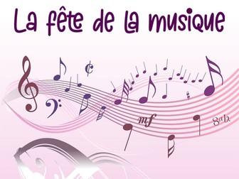 French KS3- la Fête de la Musique