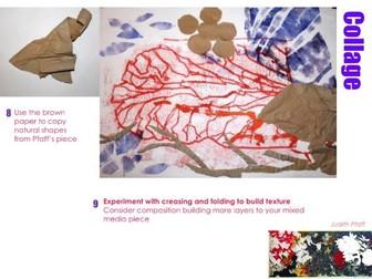Artist research - Judith Pfaff - Printing & Mixed media - Natural Forms